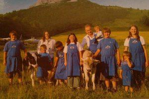 Familie am Berg