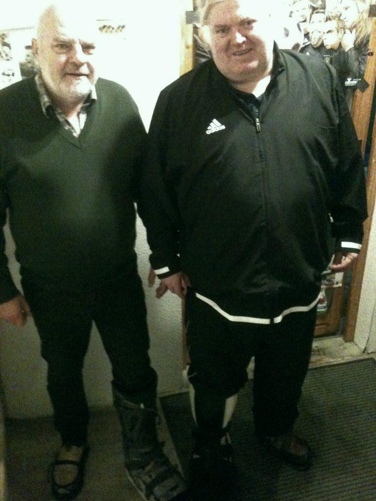 Ralf und Elmar im Gleichschritt, nun auch mit der gleichen Schuhmode!